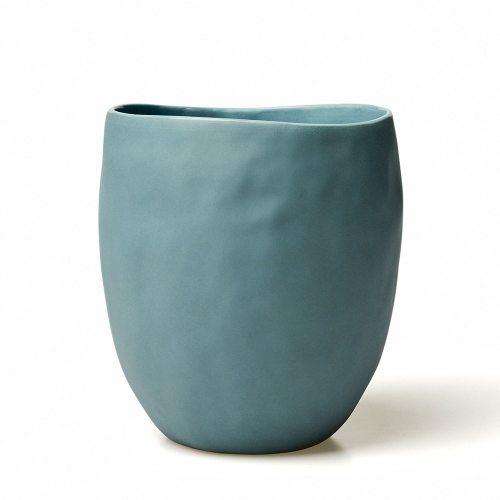 Adairs - HR Basque Organic vase slate blue - $24.95