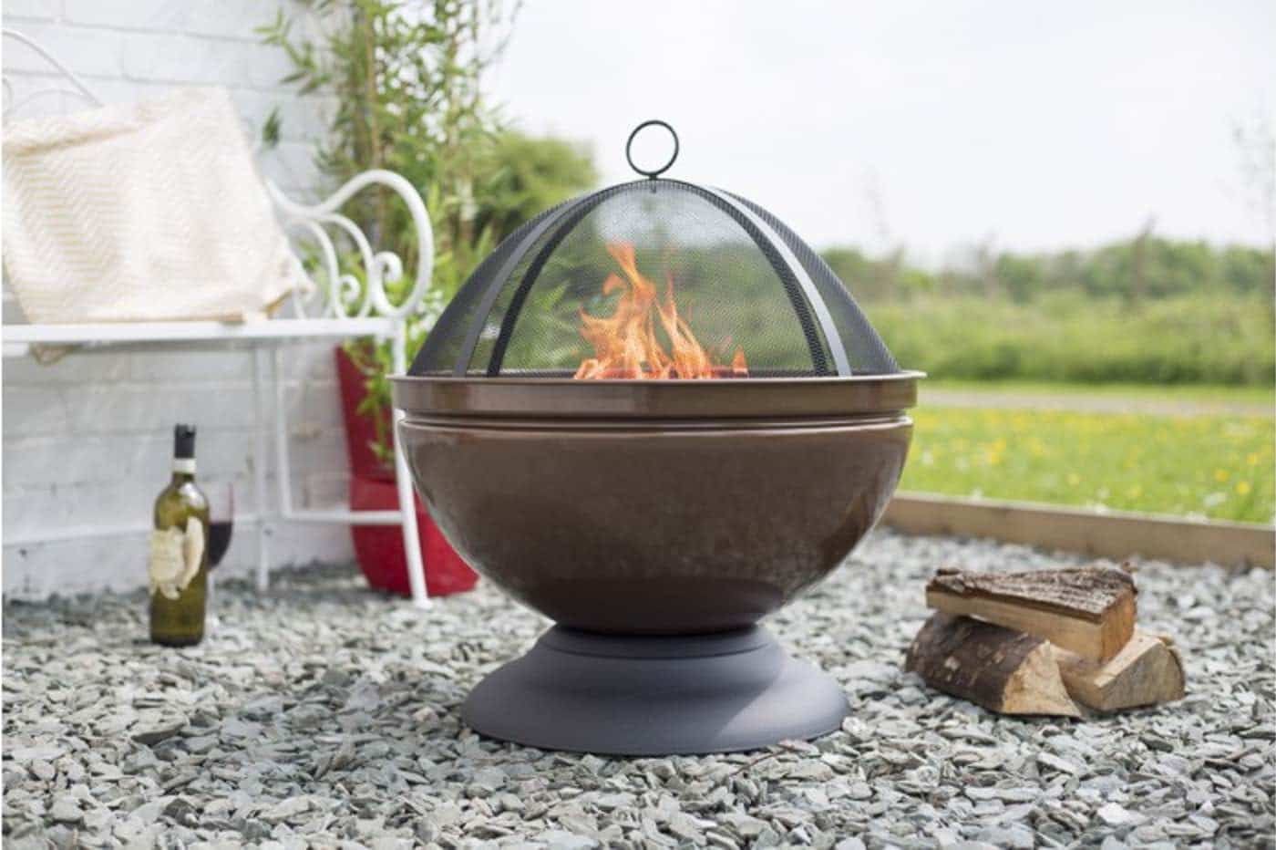 Exceptional Fire Pit Bbq Galore Part - 10: Globe 56cm Bronze Firepit, $149, Barbeques Galore